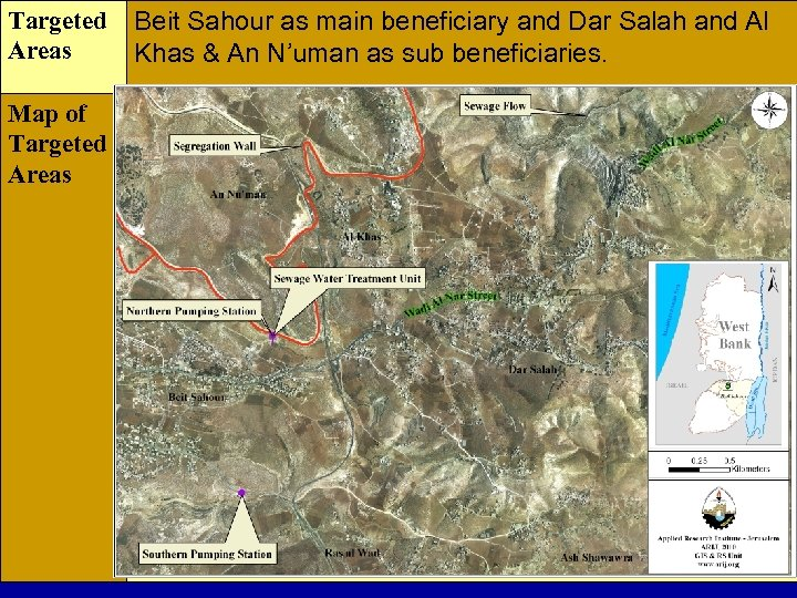 Targeted Areas Map of Targeted Areas Beit Sahour as main beneficiary and Dar Salah