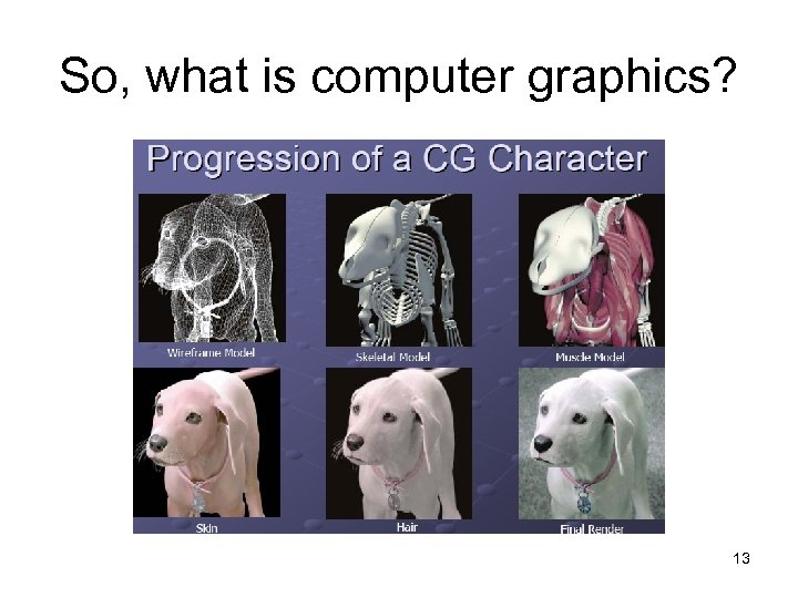 So, what is computer graphics? 13