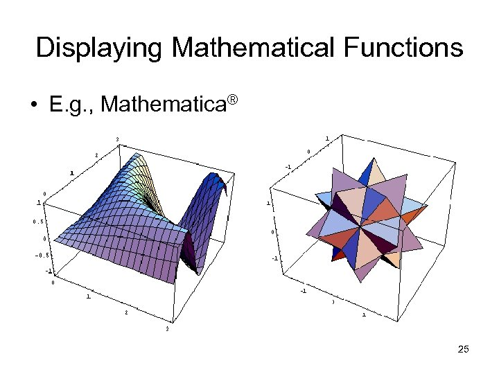 Displaying Mathematical Functions • E. g. , Mathematica® 25