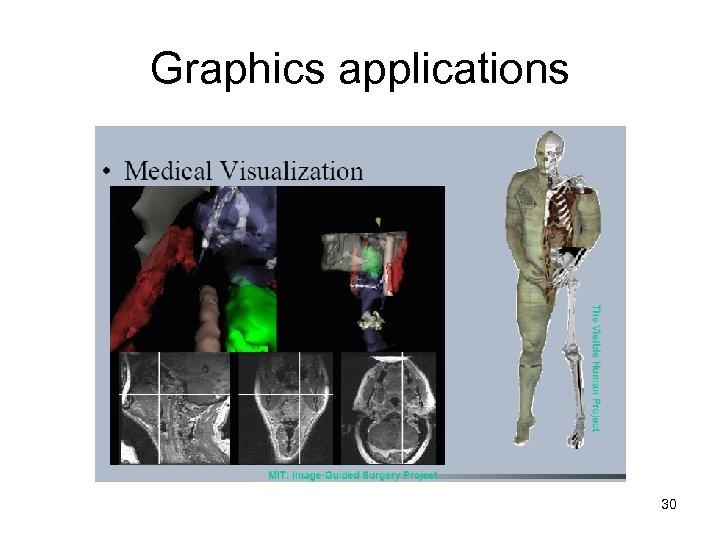 Graphics applications 30
