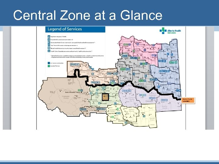 Central Zone at a Glance
