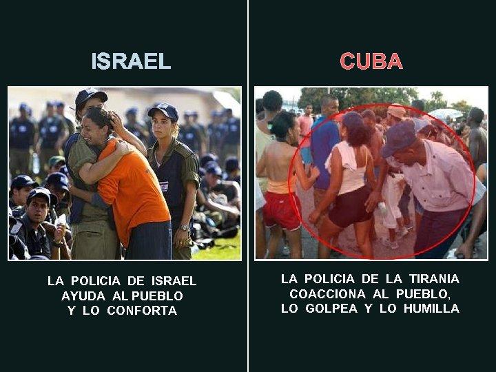 ISRAEL LA POLICIA DE ISRAEL AYUDA AL PUEBLO Y LO CONFORTA CUBA LA POLICIA