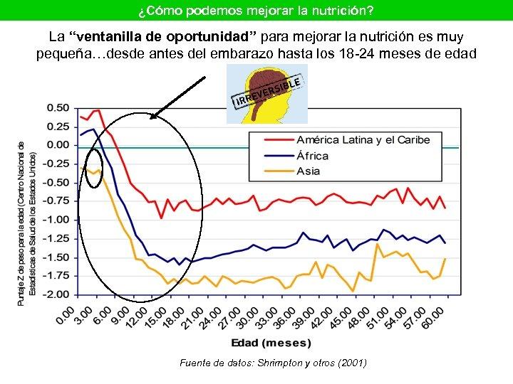 """¿Cómo podemos mejorar la nutrición? La """"ventanilla de oportunidad"""" para mejorar la nutrición es"""