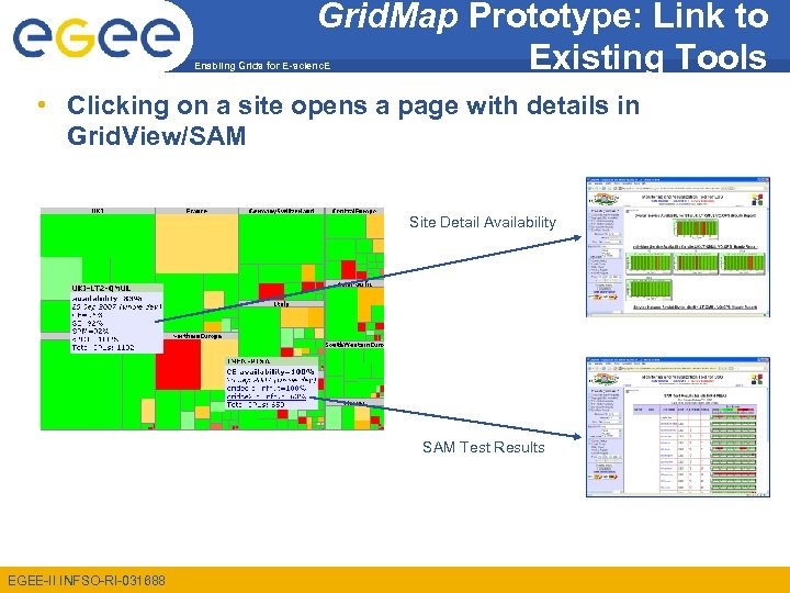 Grid. Map Prototype: Link to Existing Tools Enabling Grids for E-scienc. E • Clicking