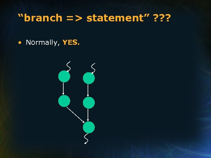 """""""branch => statement"""" ? ? ? • Normally, YES."""