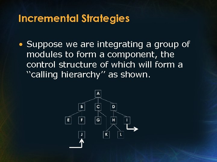 Incremental Strategies • Suppose we are integrating a group of modules to form a