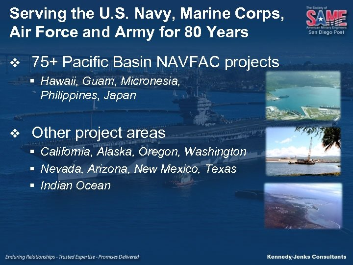 Serving the U. S. Navy, Marine Corps, Air Force and Army for 80 Years