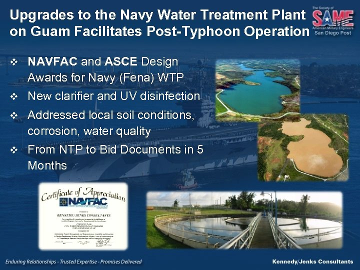 Upgrades to the Navy Water Treatment Plant on Guam Facilitates Post-Typhoon Operation v NAVFAC