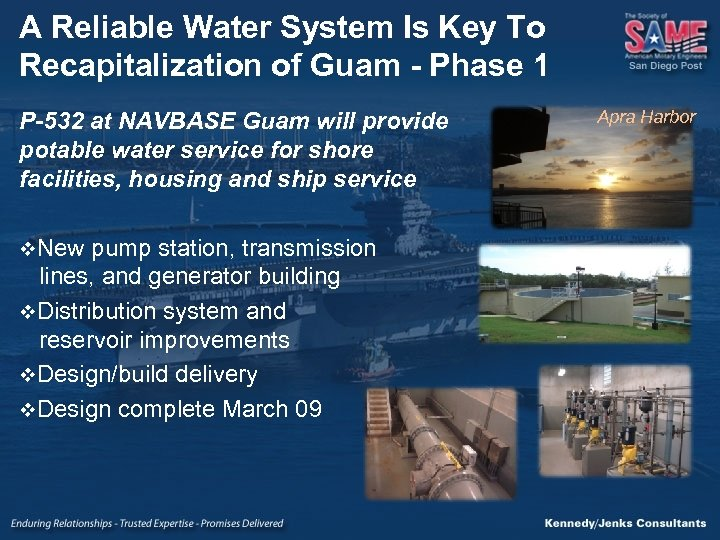 A Reliable Water System Is Key To Recapitalization of Guam - Phase 1 P-532