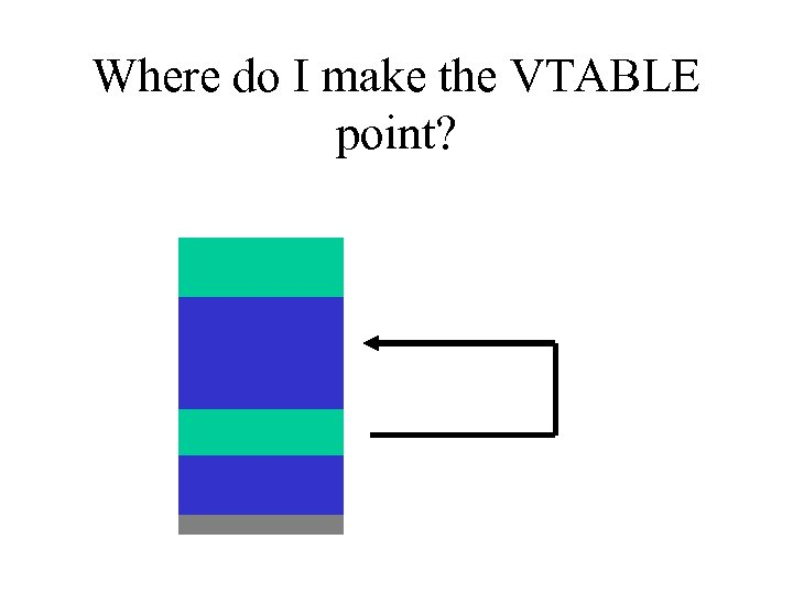 Where do I make the VTABLE point?