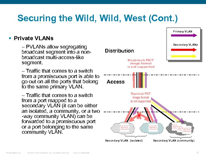 Securing the Wild, West (Cont. ) Primary VLAN § Private VLANs – PVLANs allow