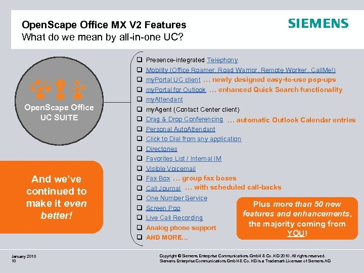 Open. Scape Office MX V 2 Features What do we mean by all-in-one UC?