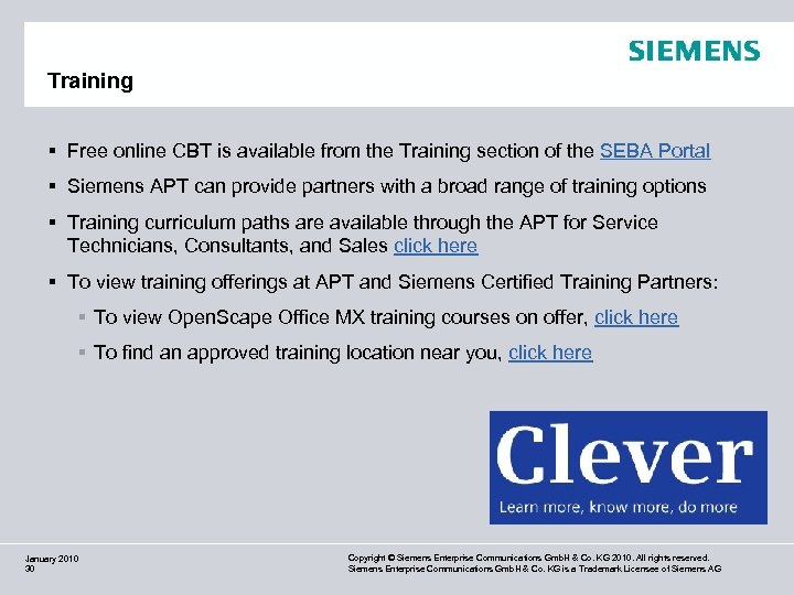 Training § Free online CBT is available from the Training section of the SEBA