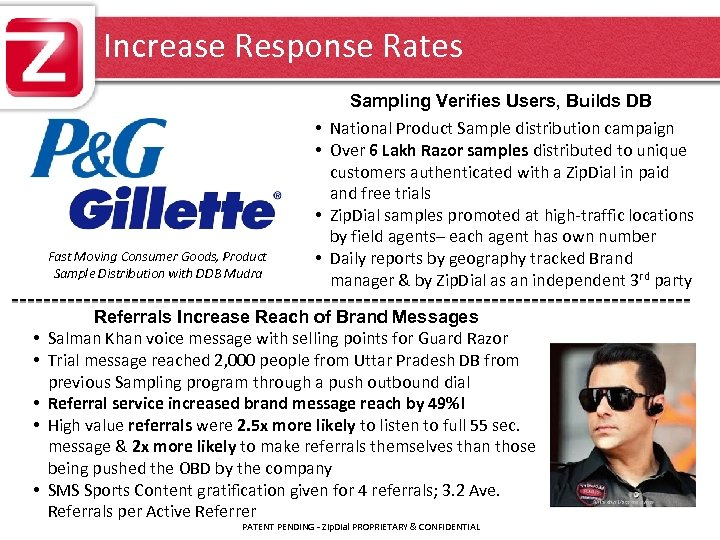 Increase Response Rates Sampling Verifies Users, Builds DB Fast Moving Consumer Goods, Product Sample