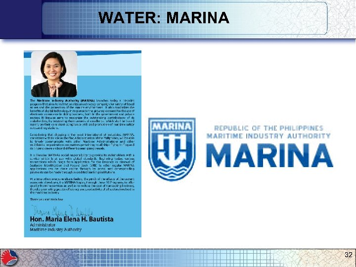 WATER: MARINA 32