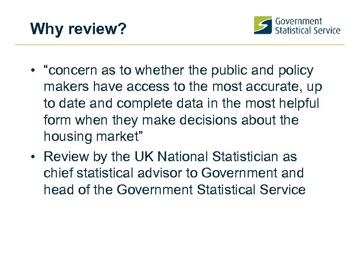 "Why review? • ""concern as to whether the public and policy makers have access"