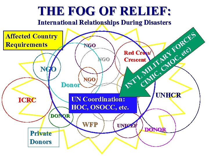 THE FOG OF RELIEF: International Relationships During Disasters Affected Country Requirements ES C OR