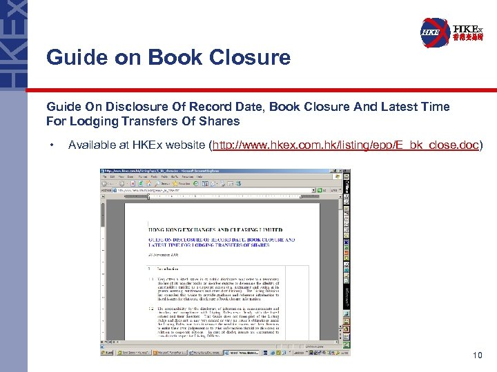 Guide on Book Closure Guide On Disclosure Of Record Date, Book Closure And Latest