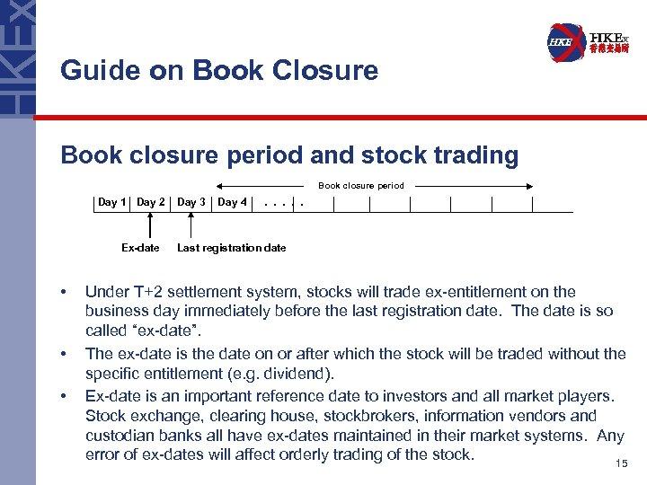 Guide on Book Closure Book closure period and stock trading Book closure period Day
