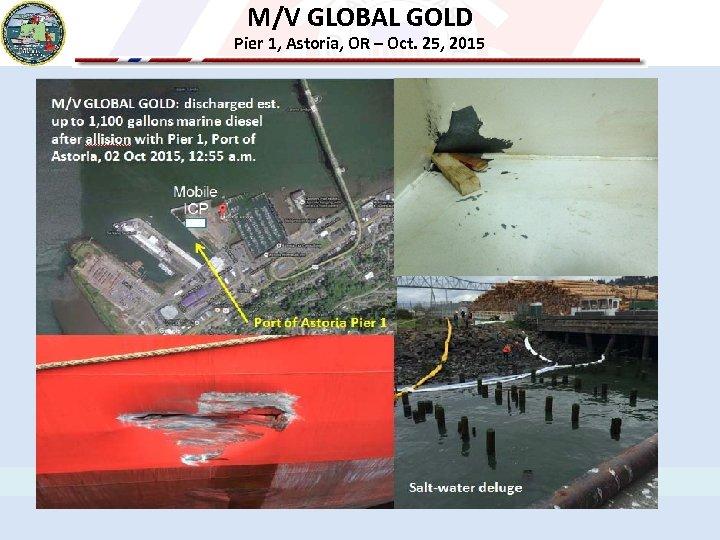 M/V GLOBAL GOLD Pier 1, Astoria, OR – Oct. 25, 2015