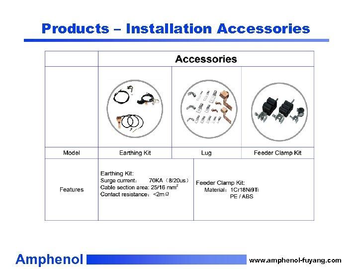Products – Installation Accessories Amphenol www. amphenol-fuyang. com