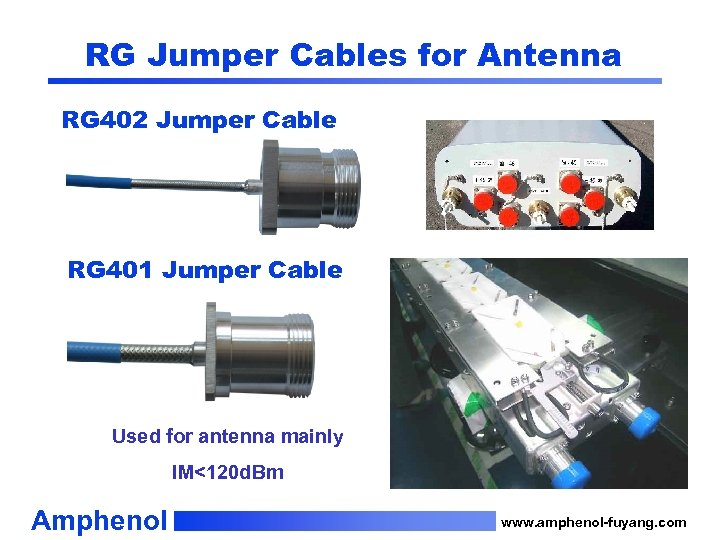 RG Jumper Cables for Antenna RG 402 Jumper Cable RG 401 Jumper Cable Used