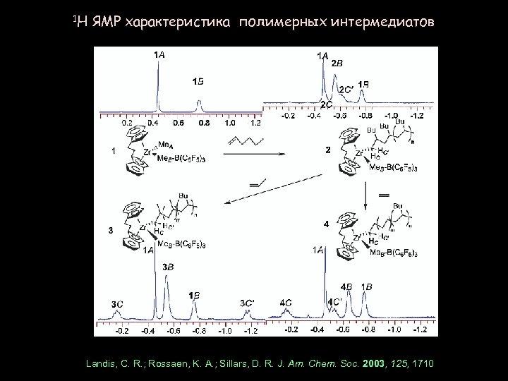 1 H ЯМР характеристика полимерных интермедиатов Landis, C. R. ; Rossaen, K. A. ;
