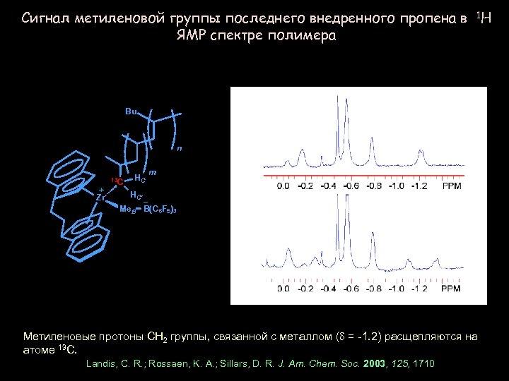 Сигнал метиленовой группы последнего внедренного пропена в 1 H ЯМР спектре полимера Bu n