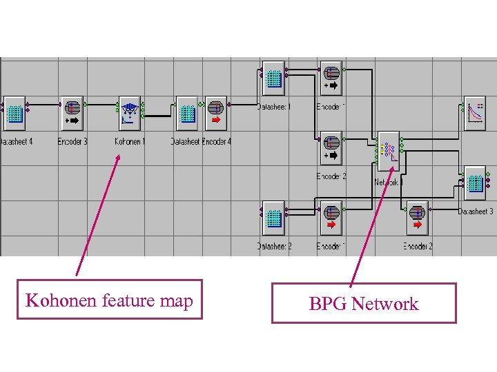 Kohonen feature map BPG Network