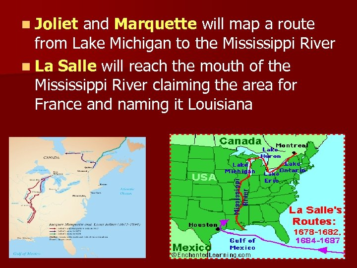 n Joliet and Marquette will map a route from Lake Michigan to the Mississippi