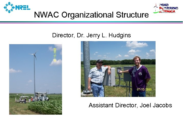 NWAC Organizational Structure Director, Dr. Jerry L. Hudgins Assistant Director, Joel Jacobs