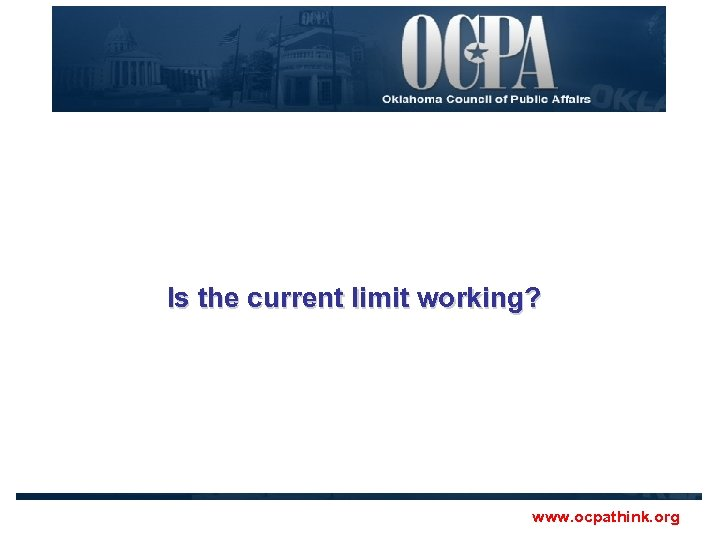 Is the current limit working? www. ocpathink. org
