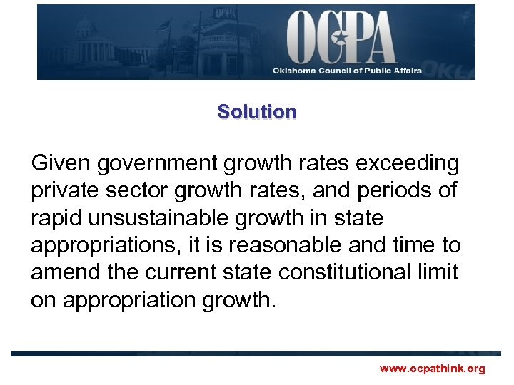 Solution Given government growth rates exceeding private sector growth rates, and periods of rapid