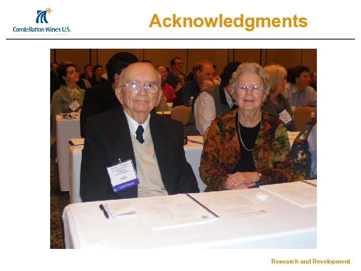Acknowledgments Research and Development