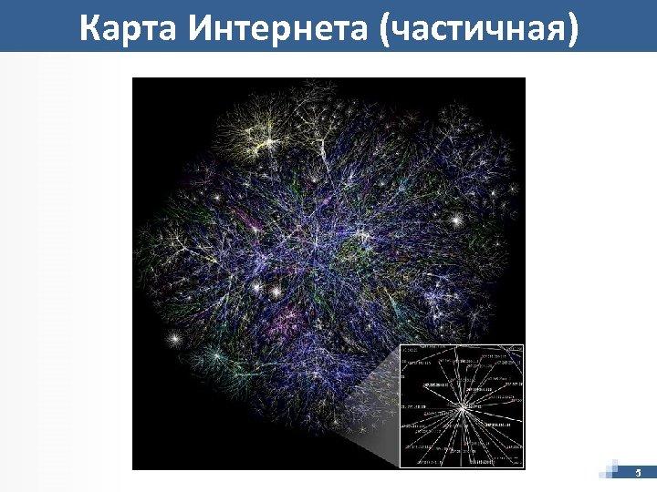 Карта Интернета (частичная) 5