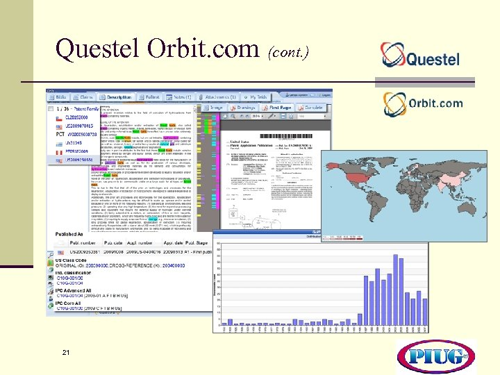 Questel Orbit. com (cont. ) 21