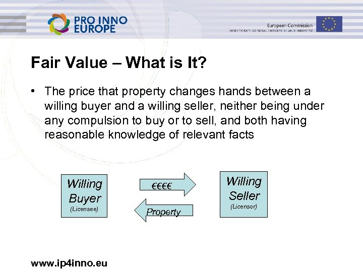 Fair Value – What is It? • The price that property changes hands between