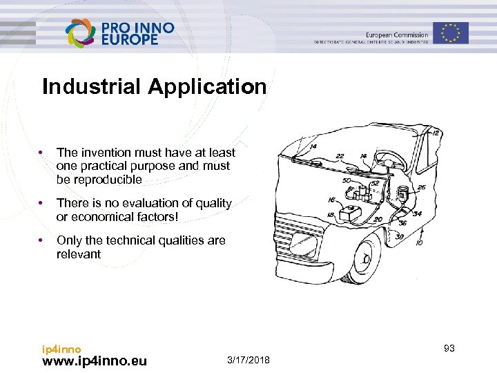 Industrial Application • The invention must have at least one practical purpose and must