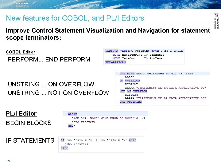 New features for COBOL, and PL/I Editors Improve Control Statement Visualization and Navigation for
