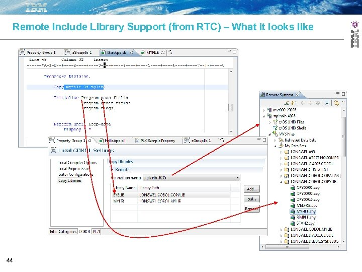 Remote Include Library Support (from RTC) – What it looks like 44