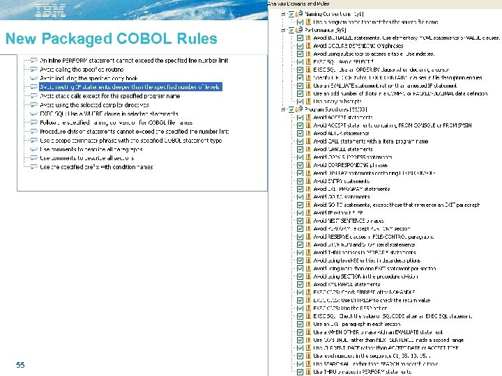 New Packaged COBOL Rules 55