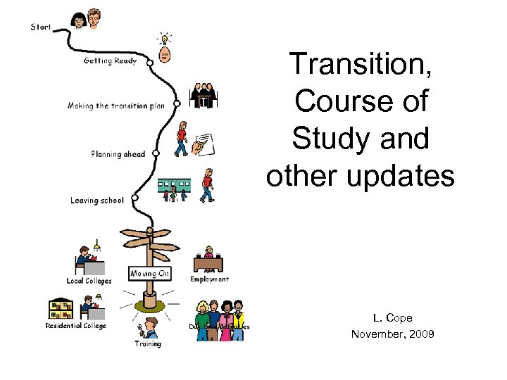 Transition, Course of Study and other updates L. Cope November, 2009
