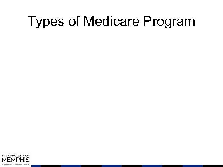 Types of Medicare Program
