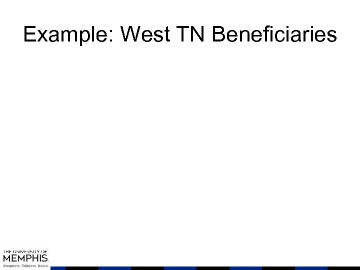 Example: West TN Beneficiaries