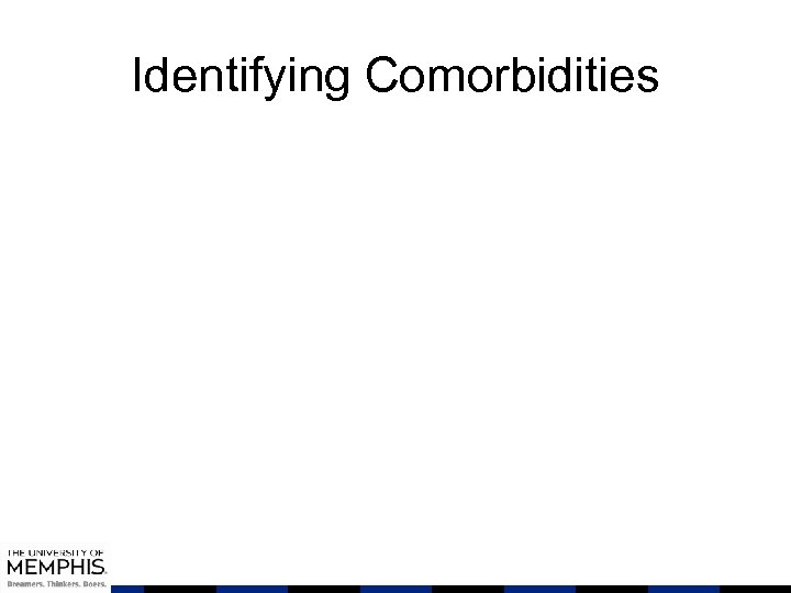Identifying Comorbidities