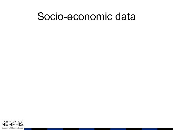 Socio-economic data