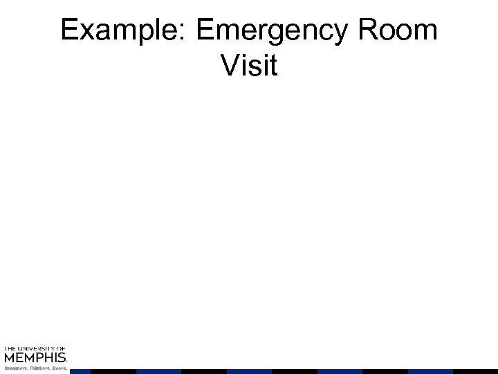 Example: Emergency Room Visit