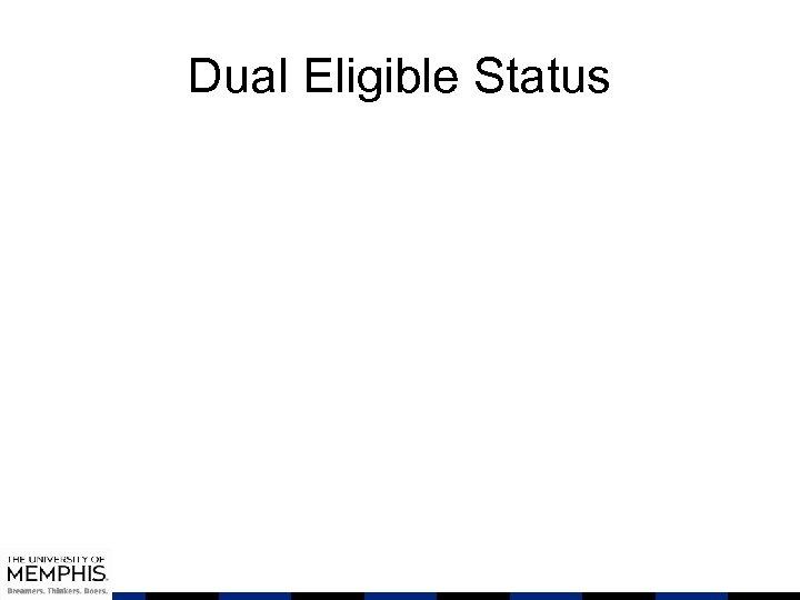 Dual Eligible Status