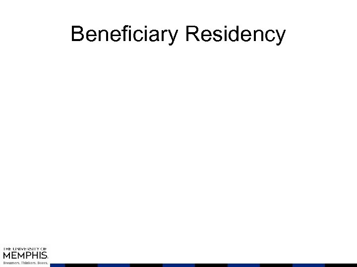 Beneficiary Residency