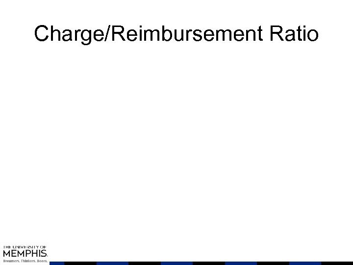 Charge/Reimbursement Ratio